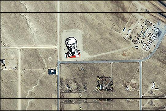 KFC advertises to Aliens!