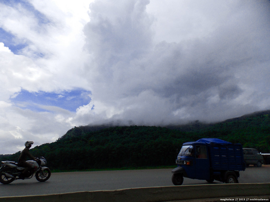 Biker in the Storm, en route to Shillong