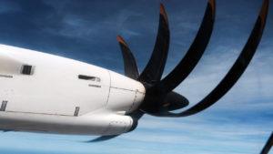 JetAirways turboprop ATR over South India