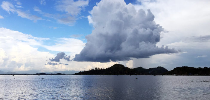 Cloudburst over Loktak Lake