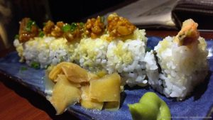 Crunchy Ebi Sushi roll, at Kuuraku