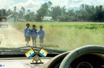 Kids going to school, in Wangjing Kendra, Manipur